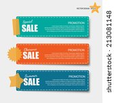 cute note papers with sale...   Shutterstock .eps vector #213081148