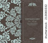 wedding vintage invitation card ... | Shutterstock .eps vector #213083332