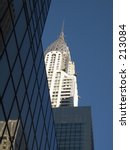 This is a shot of the Chrysler Building in New York City.  - stock photo