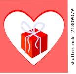 gift box and frame heart.... | Shutterstock .eps vector #21309079