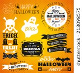 set of halloween labels ... | Shutterstock .eps vector #213098575