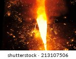 smelting of metal casting ... | Shutterstock . vector #213107506