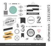 hipster style infographics... | Shutterstock .eps vector #213115072