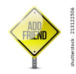 add friend sign illustration... | Shutterstock . vector #213122506