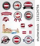 made in latvia seals  latvian... | Shutterstock .eps vector #213124756