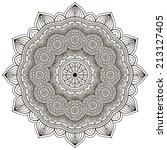 mandala. round ornament pattern.... | Shutterstock .eps vector #213127405