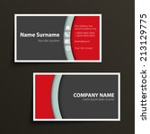 modern simple business card... | Shutterstock .eps vector #213129775