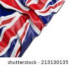 England Uk Wavy Flag With White