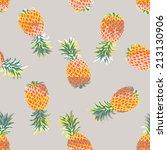 pineapple pattern seamless... | Shutterstock .eps vector #213130906