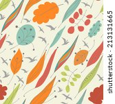 autumn seamless pattern with... | Shutterstock .eps vector #213131665