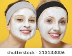portrait of two happy women... | Shutterstock . vector #213133006