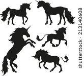 unicorn set | Shutterstock .eps vector #213140608