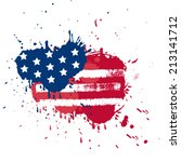 blot in usa flag colors  grunge ... | Shutterstock .eps vector #213141712