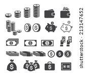 money icon   Shutterstock .eps vector #213147652