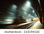 high speed railway travelling   ... | Shutterstock . vector #213154132