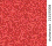 Red Pixel Mosaic Background  ...