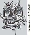 music design   turntable  ... | Shutterstock .eps vector #213162412