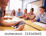 group of college students... | Shutterstock . vector #213163642