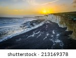 White Cliffs At English Coast...