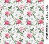 watercolor pattern with rose... | Shutterstock . vector #213177202