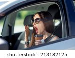 Young Woman Yawning With Cup O...