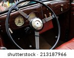 it is wheel of a vintage car | Shutterstock . vector #213187966