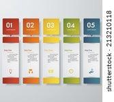 design clean number banners... | Shutterstock .eps vector #213210118