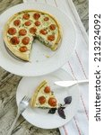 piece tart with cherry tomatoes ...
