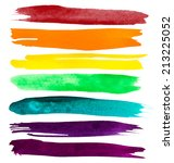 vector watercolor brush strokes  | Shutterstock .eps vector #213225052