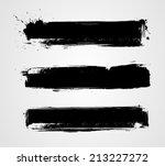 Stock vector set of three black grunge banners for your design 213227272