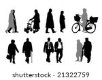 senior  silhouettes  collection | Shutterstock .eps vector #21322759