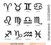 horoscope  signs of zodiac ... | Shutterstock .eps vector #213236845
