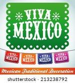 viva mexico   mexican holiday...   Shutterstock .eps vector #213238792