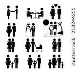 family design over white... | Shutterstock .eps vector #213244255