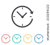 24 hour assistance   clock  ... | Shutterstock .eps vector #213254122