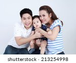 thai couple family and son... | Shutterstock . vector #213254998