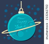 blue christmas planet bauble... | Shutterstock .eps vector #213262702