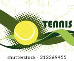 abstract tennis banner | Shutterstock .eps vector #213269455