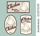 chicken meat labels | Shutterstock .eps vector #213272155