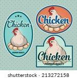 chicken meat labels | Shutterstock .eps vector #213272158