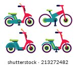 illustration of motorcycle... | Shutterstock .eps vector #213272482