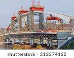 bridge construction   Shutterstock . vector #213274132