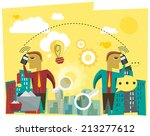 business discussion  ... | Shutterstock . vector #213277612