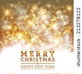 merry christmas and happy new... | Shutterstock . vector #213278122