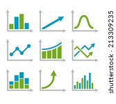 color graph chart icons set.... | Shutterstock .eps vector #213309235