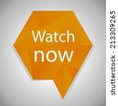 beautiful watch web icon | Shutterstock . vector #213309265