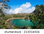 volcanic colorful lake  telaga... | Shutterstock . vector #213316426