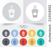 take a coffee sign icon. hot... | Shutterstock . vector #213318502