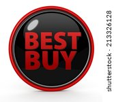 best buy circular icon on white ...   Shutterstock . vector #213326128