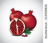 pomegranates  | Shutterstock . vector #213330826